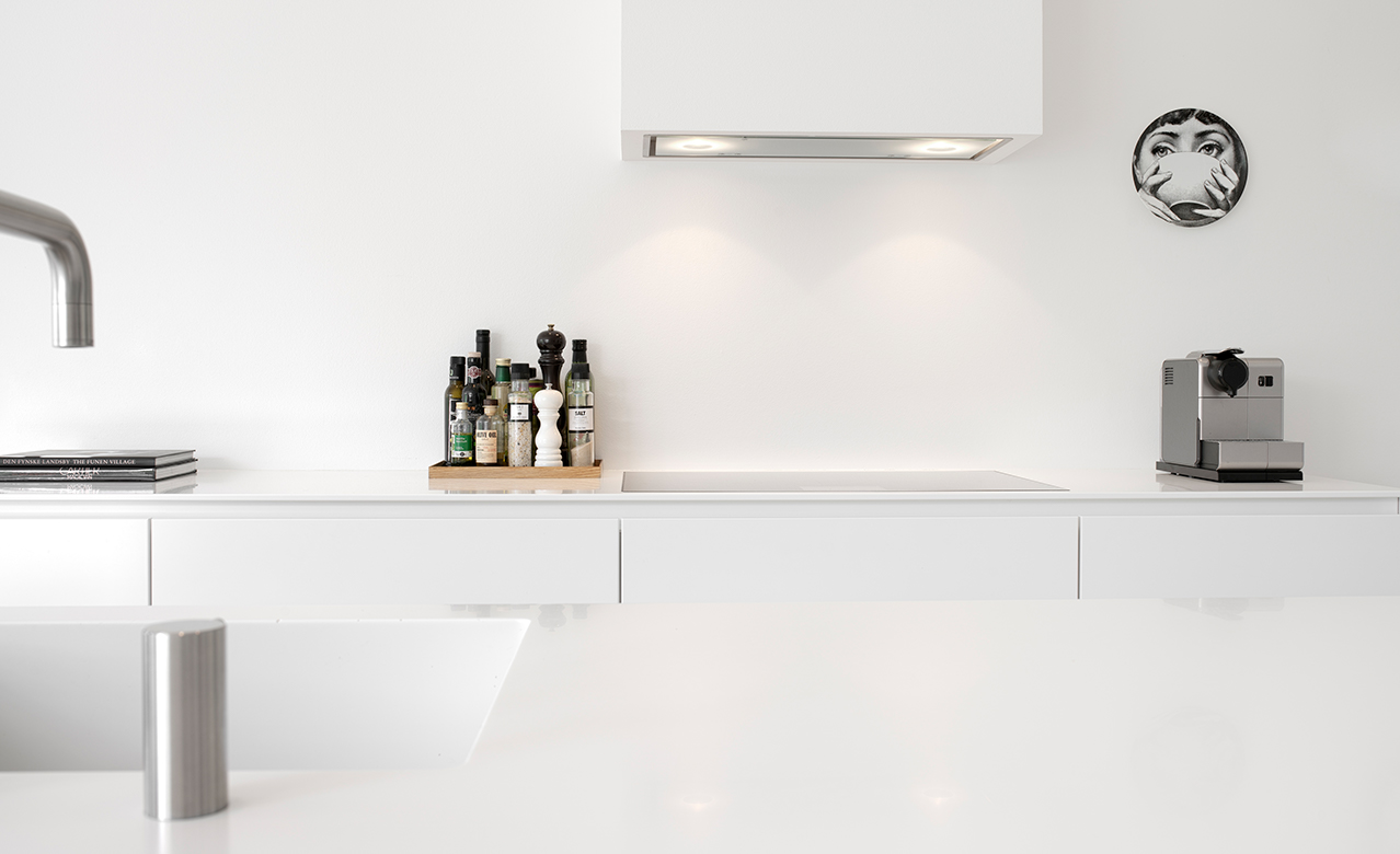 All white design kitchen by Multiform