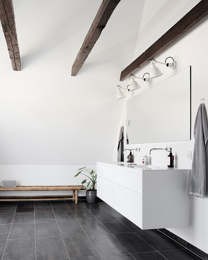 One af the new bathrooms in the patrician's villa in Odense