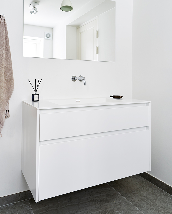 The patrician's villa situated in Odense's Hunderup quarter has been given a new kitchen and new bathrooms.