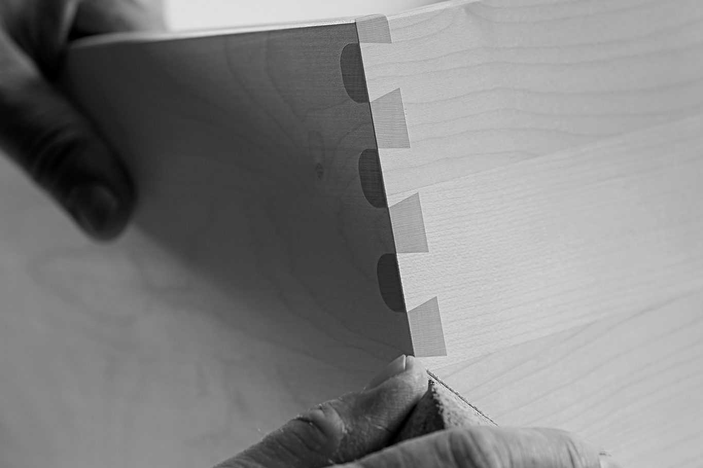 We handcraft all drawers in true cabinet-maker style.