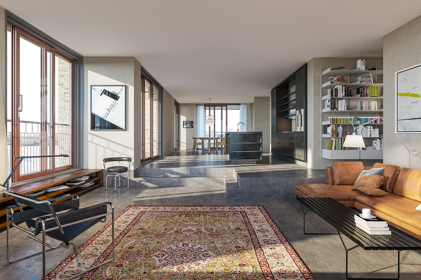 When the residences in Tuborg Strandeng are finished in January 2022, several of the exclusive apartments will be equipped with the Form 45 kitchen in black oxidised steel.